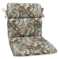 Pillow Perfect 'Tamara Paisley Quartz' Rounded Corners Outdoor Chair Cushion