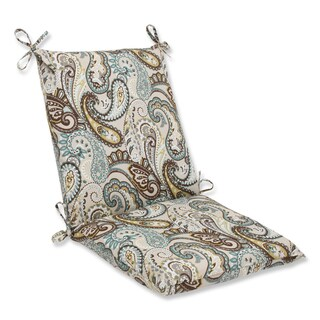 Pillow Perfect 'Tamara Paisley Quartz' Squared Corners Outdoor Chair Cushion