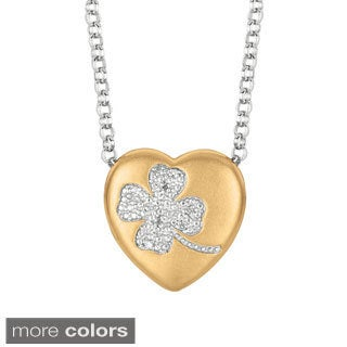 Sweethearts Diamond Accent Clover Heart Necklace (H-I, SI1-SI2)