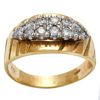 Pre-owned 18k Yellow Gold 1/2ct TDW Antique Band Ring (H-I, SI1-SI2)