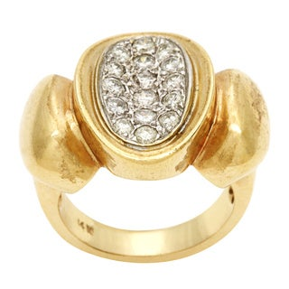Pre-owned 14k Yellow Gold 4/5ct TDW Diamond Paved Cocktail Estate Ring (H-I, SI1-SI2)