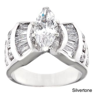 Simon Frank Designs 'The Grand Marquise' 1.62 EDW CZ Center Bridal Inspired Ring