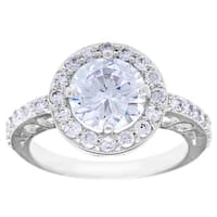 Simon Frank 2ct. TGW 'Belle Luminere' Beautiful Light CZ Wedding Ring - Silver