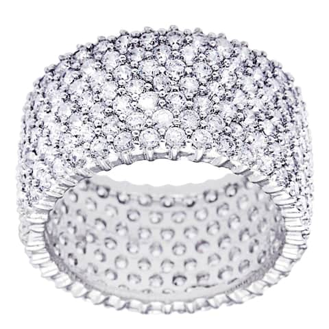 "Silver Eternity Band ""Ultimate"" 100-plus Cubic Zirconia Stones by Simon Frank Designs"