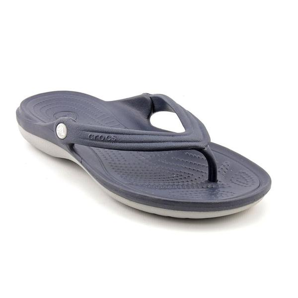 Crocs Women's 'Duet Flip' Man-Made Sandals (Size 5 )