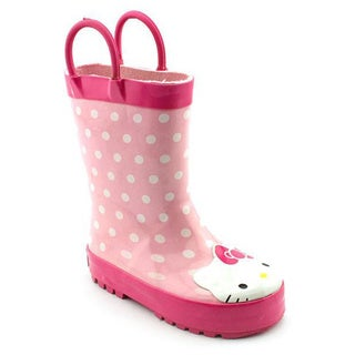Western Chief Girl (Youth) 'Hello Kitty Polka Dot Rainboot' Rubber Boots (Size 4 )