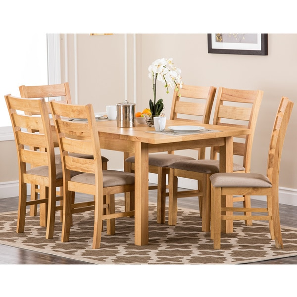 Abbyson Living 'Venice' Oak Finish Dining Chairs (Set of 2)