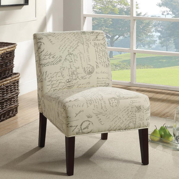 Contemporary Script Plush Oversized Accent Chair Free
