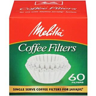 Melitta JavaJig Single Serve 60 Count Paper Coffee Filters