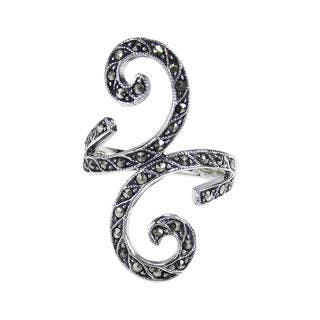 Handmade Beautiful Marcasite Front Swirl .925 Sterling Silver Ring (Thailand)|https://ak1.ostkcdn.com/images/products/8746231/Beautiful-Marcasite-Front-Swirl-.925-Silver-Ring-Thailand-P15991687.jpg?impolicy=medium