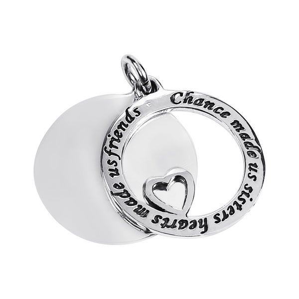 'Chance made us sisters' Friendship .925 Silver Pendant (Thailand)