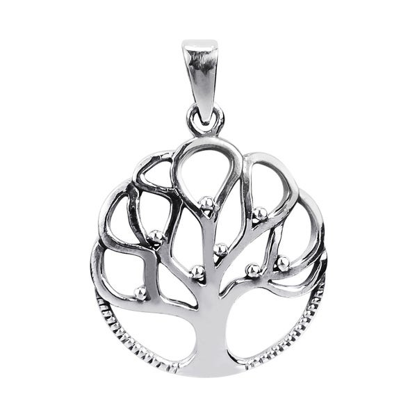 Handmade Fruitful Connection 'Tree of Life' .925 Silver Pendant (Thailand)