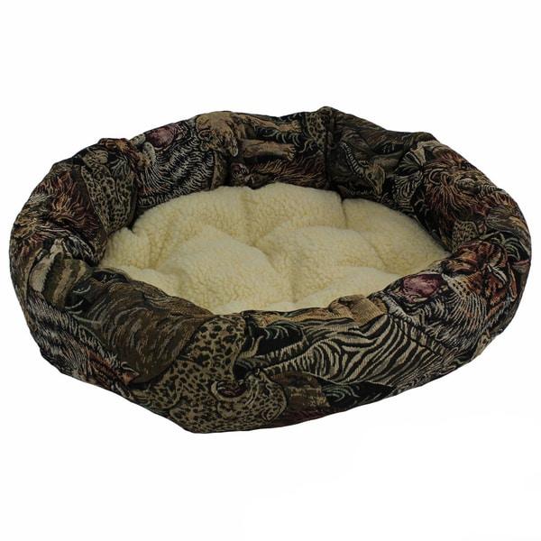Blazing Needles Small Safari Tapestry Pet Bed (27x19)