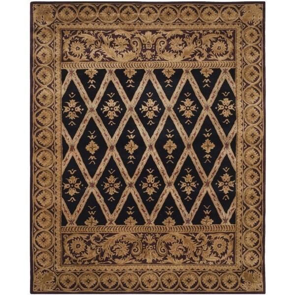 Safavieh Handmade Royalty Tufted Black/ Green Wool Rug - 8' x 10'