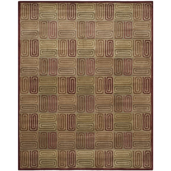 Safavieh Handmade Royalty Tufted Multicolored Wool Rug - 8' x 10'