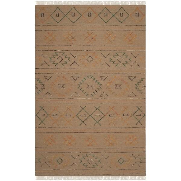 Safavieh Hand-knotted Safari Multicolored Wool Rug - 8' x 10'