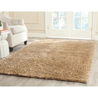 Safavieh Hand-woven Saint Tropez Taupe Polyester Rug - 8' x 10'