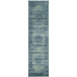 Safavieh Vintage Oriental Turquoise Distressed Silky Viscose Runner (2'2 x 6')