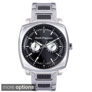 Hush Puppies Men's Stainless Steel Square Day and Date Watch