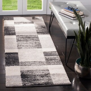 Safavieh Retro Modern Abstract Black/ Light Grey Distressed Rug (2'3 x 7')