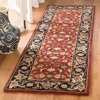 Safavieh Handmade Royalty Rust/ Navy Wool Rug (2'3 x 7')