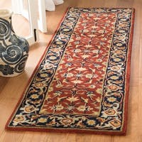 Safavieh Handmade Royalty Rust/ Navy Wool Rug - 2'3 x 7'