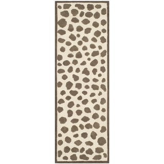 Safavieh Hand-knotted Safavieh Kids Ivory/ Grey Cotton Rug (2'3 x 7')