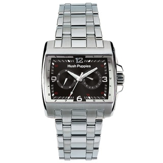 Hush Puppies Men's Stainless Steel Day Date Luminous Hands Watch
