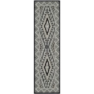 Safavieh Indoor/ Outdoor Four Seasons Ivory/ Grey Rug (2'3 x 8')
