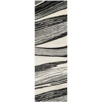 Safavieh Retro Modern Chic Abstract Light Grey/ Ivory Rug - 2'3 x 9'