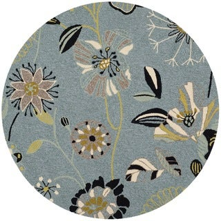 Safavieh Indoor/ Outdoor Four Seasons Blue Rug (4' Round)