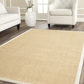 Safavieh Casual Natural Fiber Maize and Wheat Border Sisal Rug (4' x 4' Square)