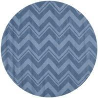 Safavieh Handmade Impressions Blue Wool Rug - 5' Round