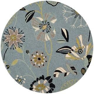 Safavieh Indoor/ Outdoor Four Seasons Blue Rug (6' Round)