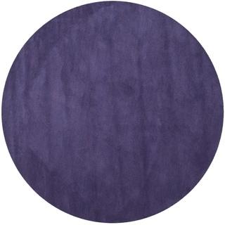 Safavieh Handmade Himalaya Solid Purple Wool Rug (6' Round)