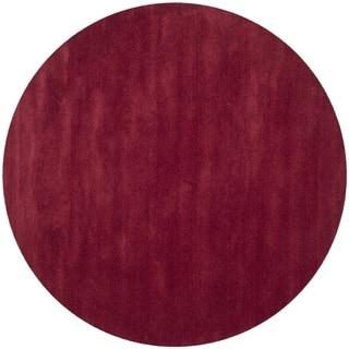 Safavieh Handmade Himalaya Solid Red Wool Rug (6' Round)
