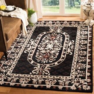 Safavieh Handmade Naples Black Wool Rug (6' Round)