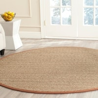 Safavieh Casual Natural Fiber Natural / Brown Seagrass Rug - 6' Round