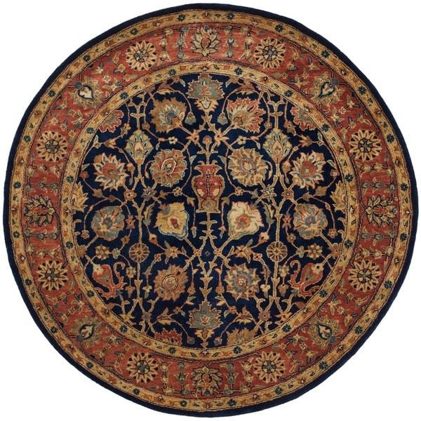 Safavieh Handmade Persian Legend Light Green Rust New: Shop Safavieh Handmade Persian Legend Navy/ Rust Wool Rug