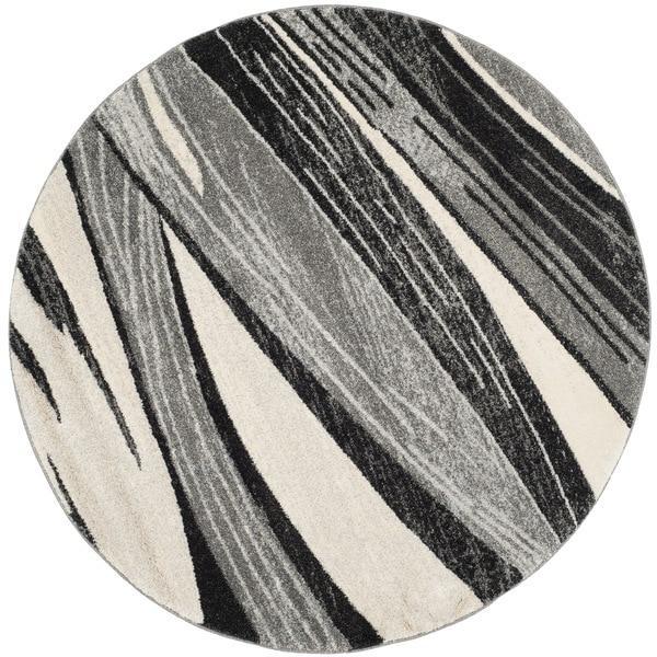 Retro Modern Rug: Shop Safavieh Retro Modern Chic Abstract Light Grey/ Ivory