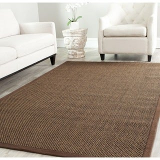 Safavieh Casual Natural Fiber Brown / Brown Sisal Rug (6' Square)