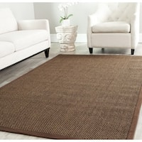 Safavieh Casual Natural Fiber Brown / Brown Sisal Rug - 6'