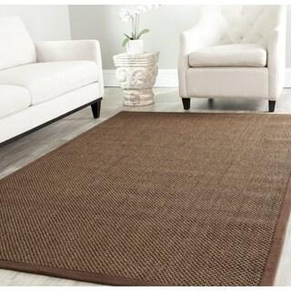 Safavieh Casual Natural Fiber Brown / Brown Sisal Rug (6' Square)