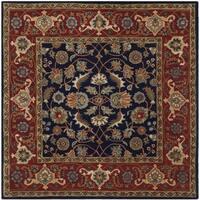 Safavieh Handmade Royalty Navy/ Rust Wool Rug - 7' Square