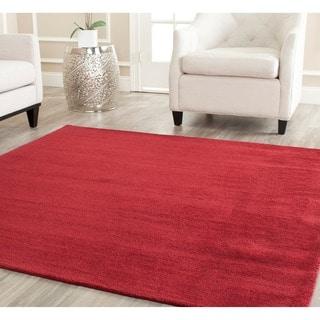 Safavieh Handmade Himalaya Solid Red Wool Rug (8' Square)