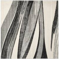Safavieh Retro Modern Chic Abstract Light Grey/ Ivory Rug - 8' Square