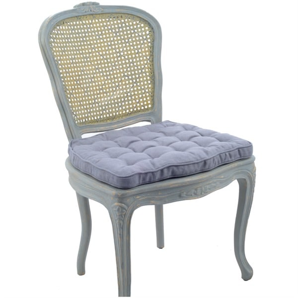 nuLOOM Antique style Linen Calypso blue Dining Chairs (Set ...