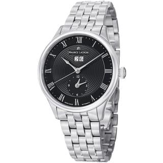 Maurice Lacroix Men's MP6707-SS002-310 'MasterPiece' Black Dial Stainless Steel Watch|https://ak1.ostkcdn.com/images/products/8746504/Maurice-Lacroix-Mens-MP6707-SS002-310-MasterPiece-Black-Dial-Stainless-Steel-Watch-P15991828.jpg?impolicy=medium