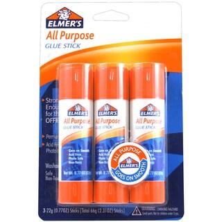 All Purpose Glue Sticks 3/Pkg-.77oz Each
