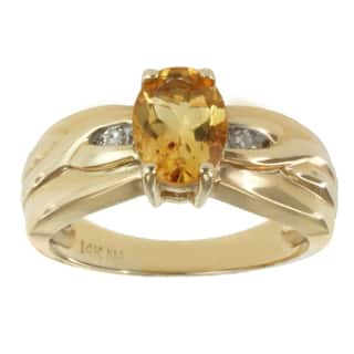 M.V. Jewels 14k Yellow Gold Citrine and Diamond Accent Ring|https://ak1.ostkcdn.com/images/products/8746577/Michael-Valitutti-14k-Yellow-Gold-Citrine-and-Diamond-Accent-Ring-P15992024.jpg?impolicy=medium